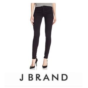J Brand Low Rise Black Skinny Jeans